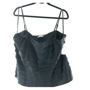 Gorgeous Calvin Klein black satin top sz2X NWT